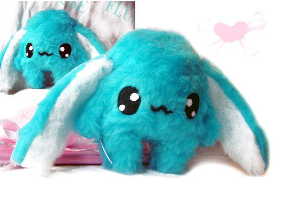 Fluse Kawaii Plush Bunny cute Rabbit blue turquoise von Fluse123, €22.00