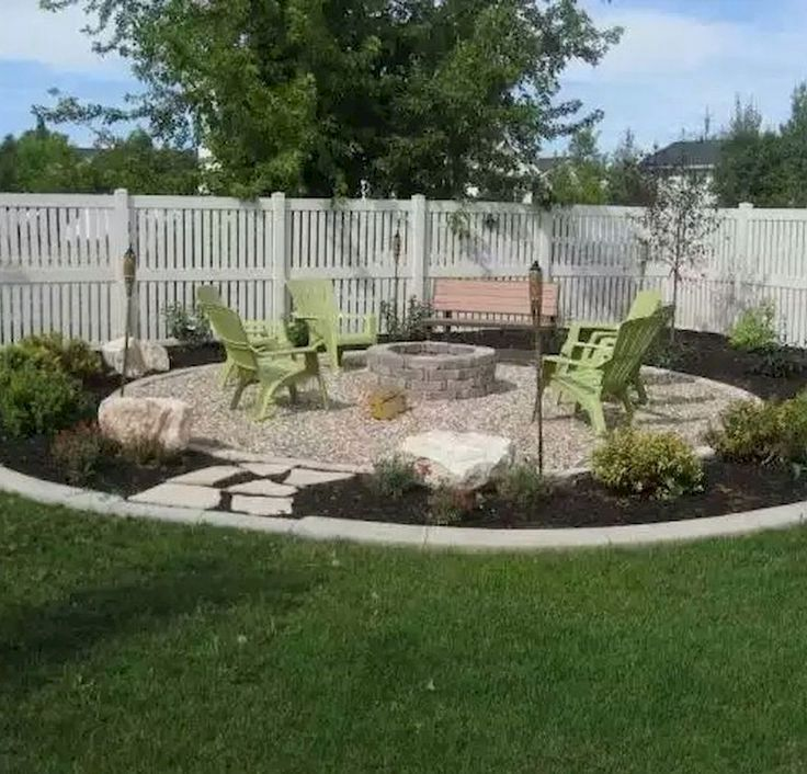 1 2 Circle Fire Pit Landscaping Fire Pit Backyard Gravel Landscaping