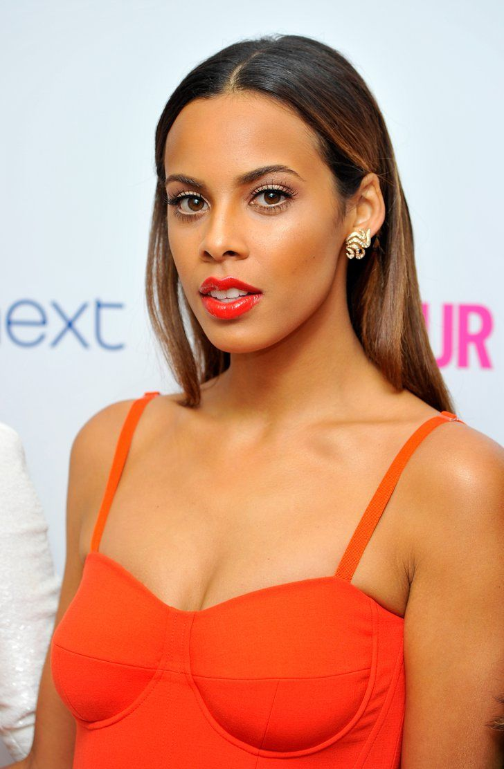 Pin for Later: British Stars Get Lippy at the Glamour Awards Rochelle Humes With her long hair swept off her face in a simple centre-parted style, Rochelle let her lips do the talking with a glossy tomato shade.