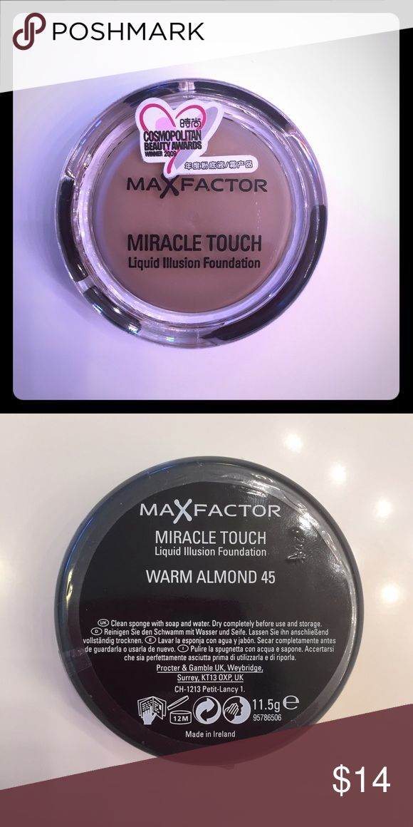 Max Factor Miracle Touch Foundation Brand new, unopened! Color: Warm Almond 45 💋 Max Factor Makeup Foundation