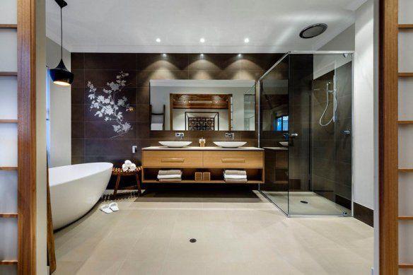 decoration-zen-bathroom-tile-wall-black-floral-pattern-furniture-wood-basin