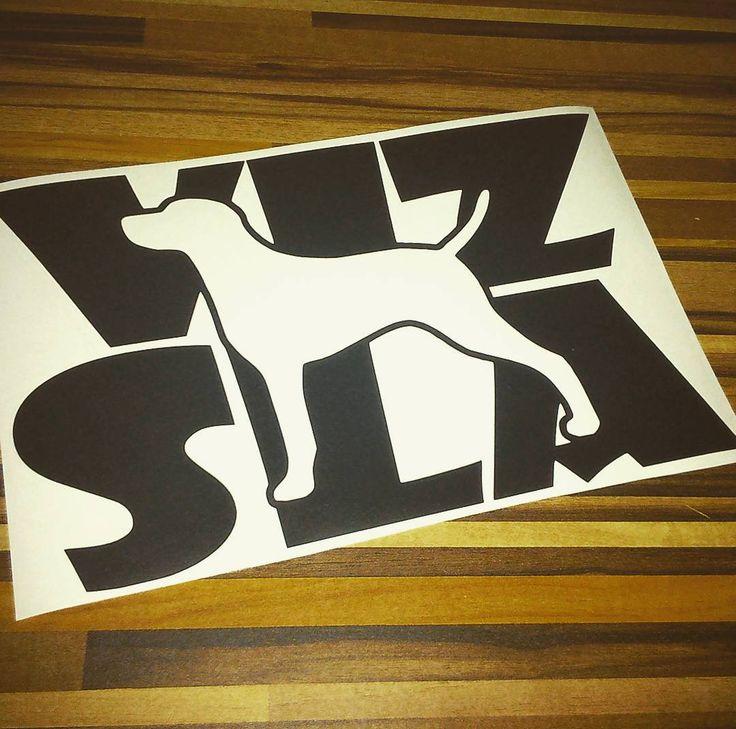 Nalepka VIZSLA | VIZSLA sticker #vizsla #vizslalove #carsticker #sticker #dogbreed #nalepka #nalepkanaauto #vizla #black #cerna #byblackberry #odblackberry