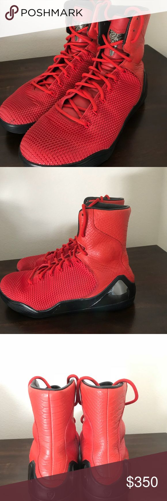 Kobe 9 red October size 9.5 Kobe 9 red October high top size 9.5 without box Nike Shoes Athletic Shoes