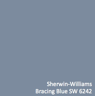 Sherwin Williams Bracing Blue Paint