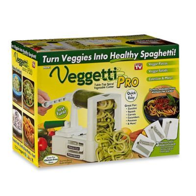 Veggetti™ Pro Tabletop Spiral Vegetable Cutter - BedBathandBeyond.com