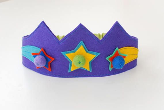 Wool felt crown Star crown Birthday crown Girls crown Boys