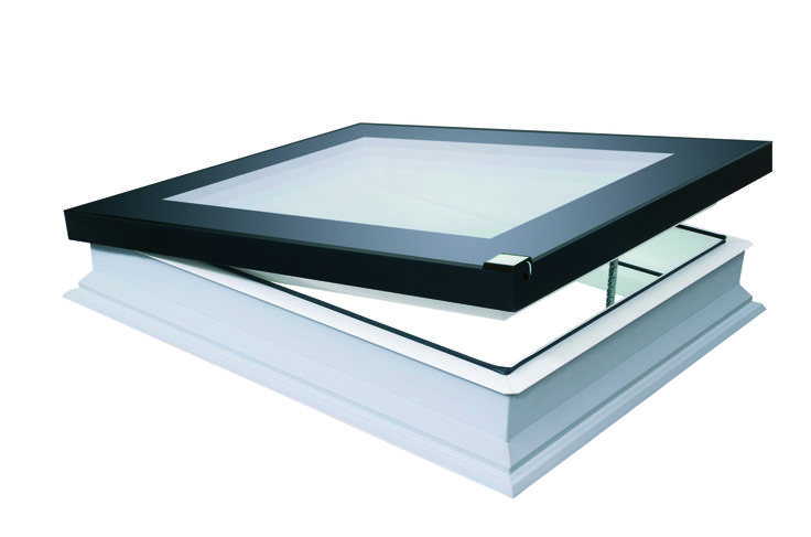 DEF Electric Flat Roof skylight with rain sensors .