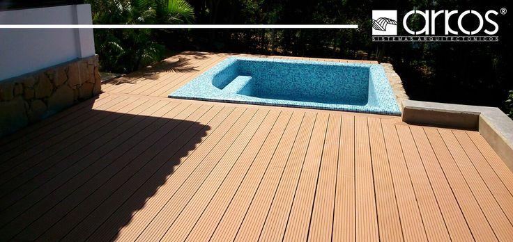 Decks de madera plastica para exteriores y zonas humedas