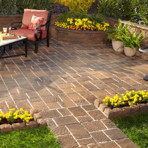 Add a paver patio or walkway to your home to personalize your landscape. -- Lowe's Creative Ideas
