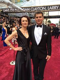 And here are Diane and Chris on the Red Carpet for the 2014 Oscar's at Dolby Theatre. Diane is wearing very special Jens Hansen jewellery pieces from the permanant and the legacy collections.
