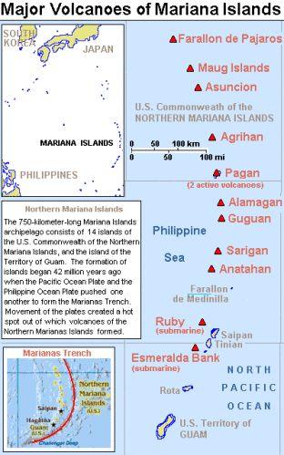 Chaîne volcanique des îles Mariannes - Groupe méridional