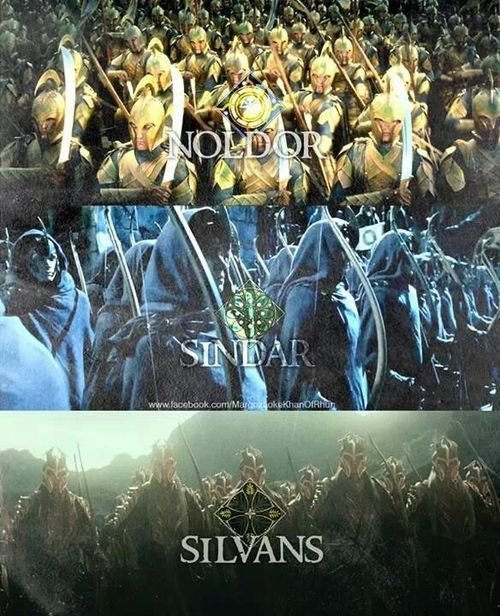 Noldor-Deep Elves, 2nd host of Eldar on W journey from Cuivienen, led by Finwe Sindar-Grey Elves, name was used on Elves of Telerin origin found n Beleriand save for Green Elves of Ossiriand. May refer to their king Thingol n Quenya Sindacollo 'Grey Cloak', or since they were not of Light Elves went to Valinor nor Dark Elves who stayed n Cuivienen Silvan - Woodland Elves their origin is those Nandorin Elves who never went W of Misty Mountains but remained n Vale of Anduin & n Greenwood the…