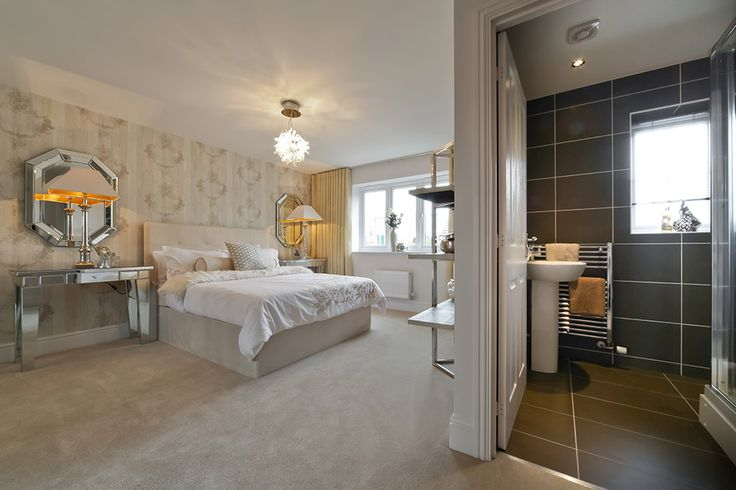 This luxury bedroom comes complete with an en-suite bathroom http://bit.ly/LTer6m