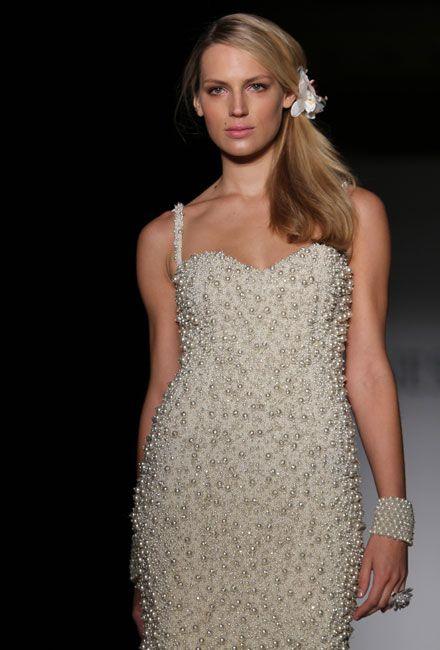 73 best Pearl Wedding Dresses images on Pinterest   Wedding frocks ...
