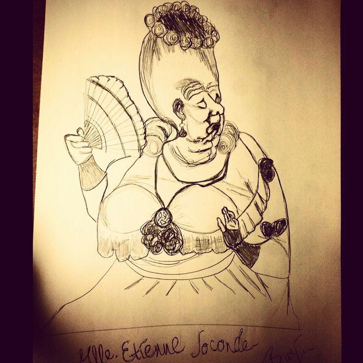 Mlle. Etienne Joconde #etiennejoconde #Daumier #sketch #pencil #blackwhite