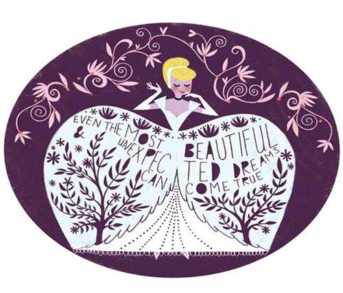 'Cinderella's Most Beautiful Dream' in the 'Art of Princess' Collection at Disney Vault 28: Dreams, Dream Come True, Disney Princesses, Poster Art, Quote, Art Design Illustration, Disney Art, Cinderella Art