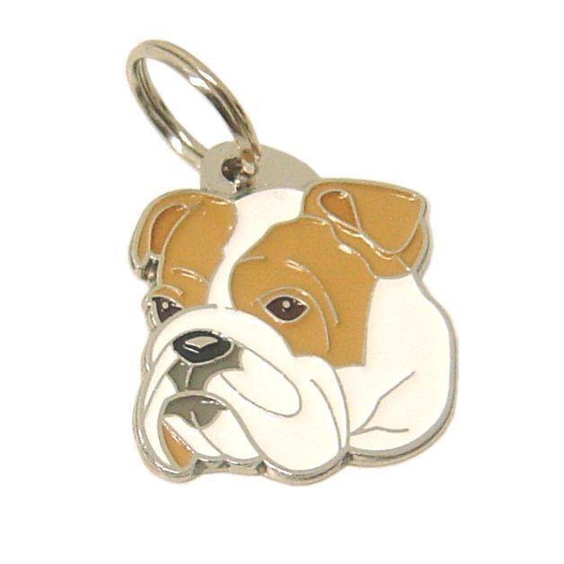Custom engraved pet tag BULLDOG by MjavHov on Etsy https://www.etsy.com/listing/185066313/custom-engraved-pet-tag-bulldog