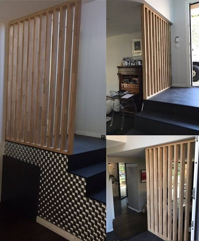 claustra bois en chêne ajouré en 15 lames modèle ichi en