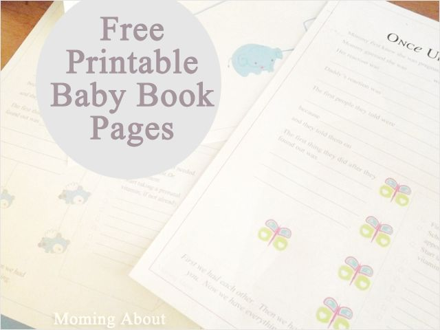 Free Baby Book Printables by Moming About