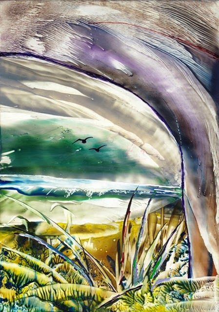 Marja's Creativity (paintings, art journals etc): UITZICHT / VIEW - Encaustic
