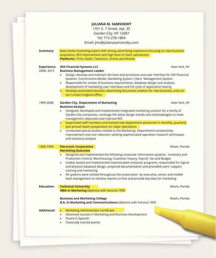 tips for writing a one page resume sample resume job resume and one page - 1 Page Resume Examples