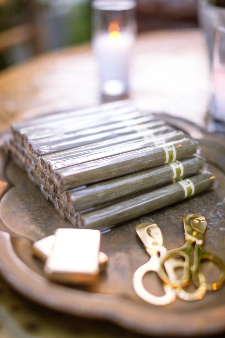 #cigars Photography: Max Wanger - maxandfriends.com Read More: http://www.stylemepretty.com/2014/09/22/elegant-garden-wedding-at-the-grade-school-where-the-couple-met/
