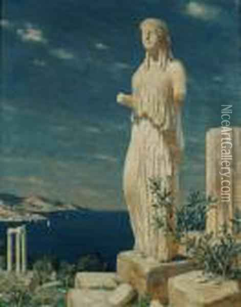 Greek Ruins oil painting reproduction by Tavik Frantisek Simon -  NiceArtGallery.com