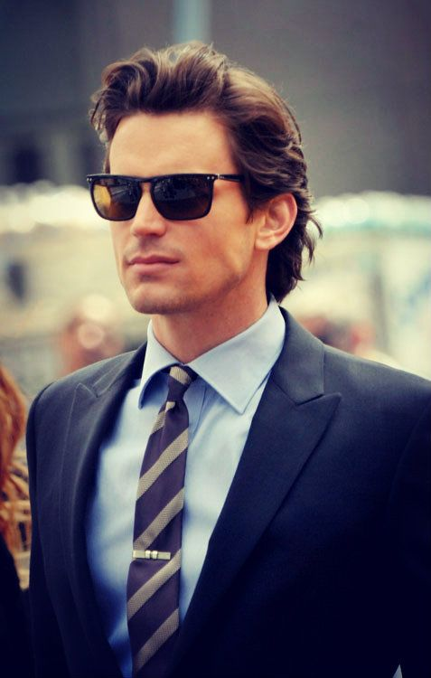 The star of White Collar, Matt Bomer, is meticulously dressed all the time. A style guru right there.