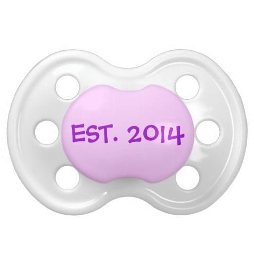 EST. 2014 Baby Pacifier