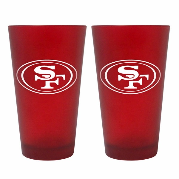 San Francisco 49ers Color Frost Pint Glasses
