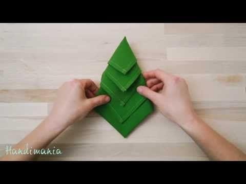 Christmas Tree Napkins How to Fold a Napkin into a Christmas Tree Napkin Folding - YouTube