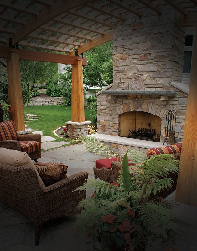 Outdoor Covered Patio With Fireplace Great Addition Idea Dream Dream Dream: 23 Best Images About Pergola With Fireplace On Pinterest