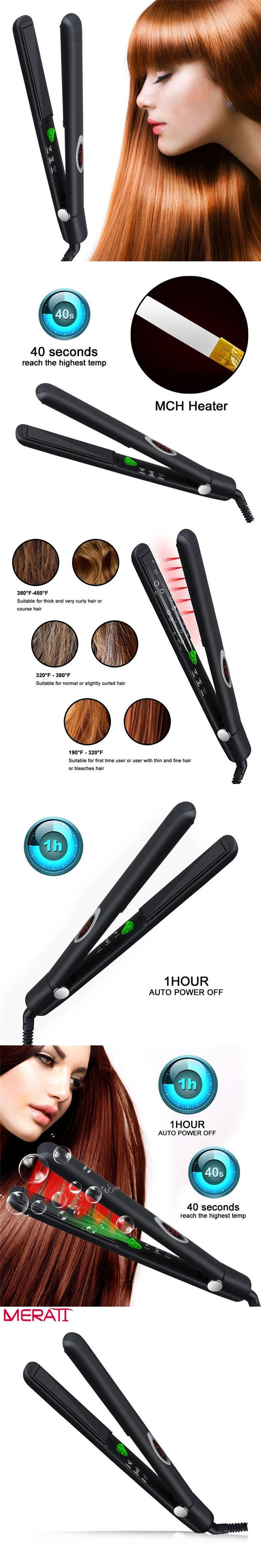 New Arrival HTG Professional Hair Straightener With Infrared Hair Straightener Straightening Iron Ceramic Iron