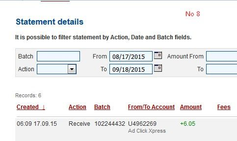 Here is my Withdrawal Proof from AdClickXpress AGAIN! I get paid daily and I can withdraw daily. Online income is possible with ACX, who is definitely paying - NO SCAM HERE!!! If you want to earn money working from home, join the club successfull people! AdClickXpress is the best online opportunity! http://www.adclickxpress.com/?r=v3cs7mpq78&p=mx