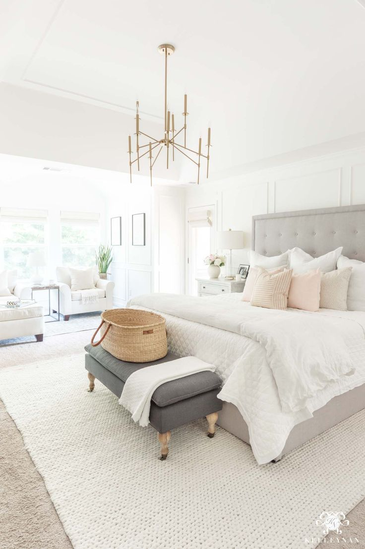 Six Blush Pink Bedroom Tips That Aren T Too Girly Kelley Nan Master Bedrooms Decor Home Decor Bedroom Cozy Master Bedroom