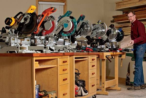 """Which is the best 10"""" miter saw for you? We tested 10-in. compound sliding miter saws from Bosch, Makita, Ridgid, Craftsman, Ryobi, DeWalt and Kobalt."""