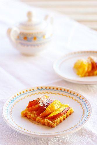 Un dejeuner de soleil: Tarte pêches coco, la tarte des vacances !