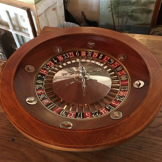 Vintage Casino Roulette Wheel from Paris by SalvageBank on Etsy