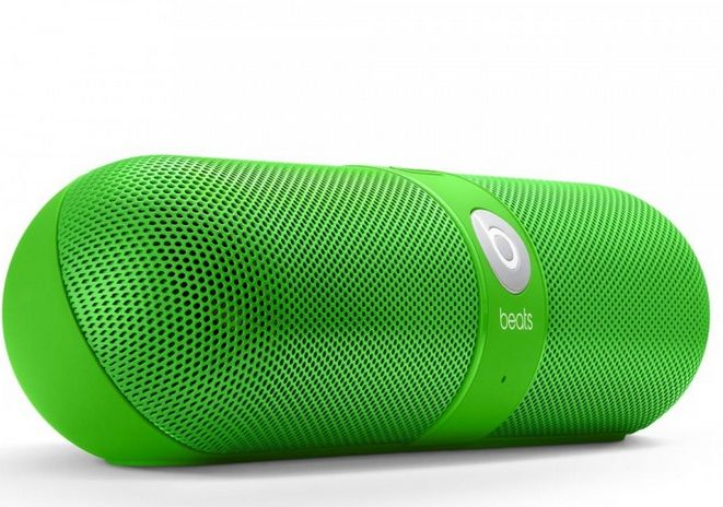 Cool tech accessories: Beats by Dr Dre Pill Speaker in Green. For St Pat's and beyond