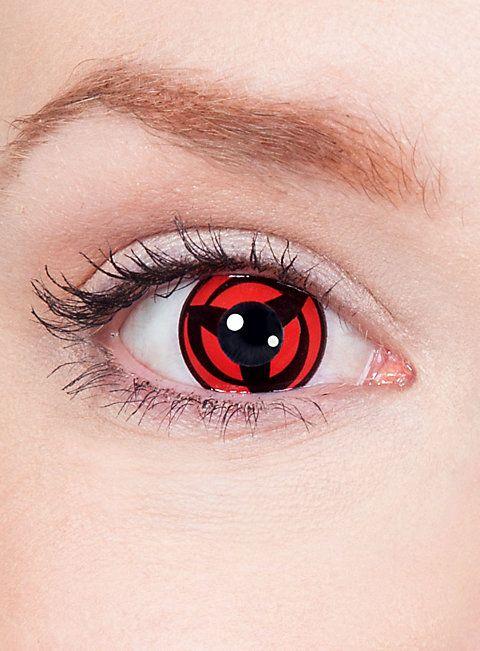 Kakashis Mangekyou Sharingan Kontaktlinsen #contactlenses #halloween #sfx #black #red #naturo #cosplay