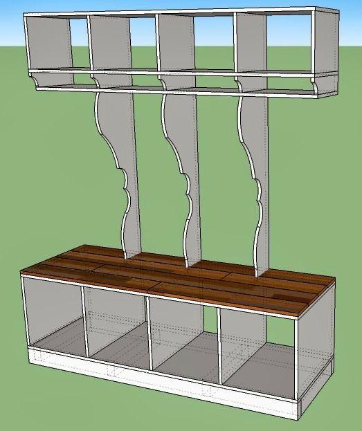 Best 10 cubby shelves ideas on pinterest cubbies for Mudroom cubby plans