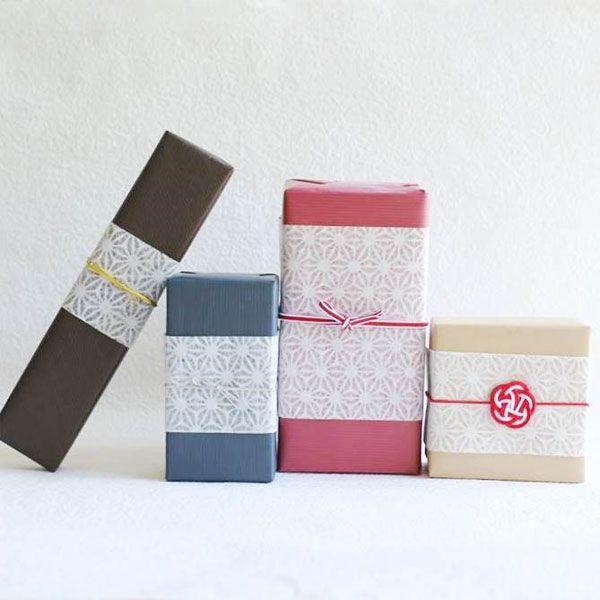 包装紙+土佐和紙掛けラッピングイメージ