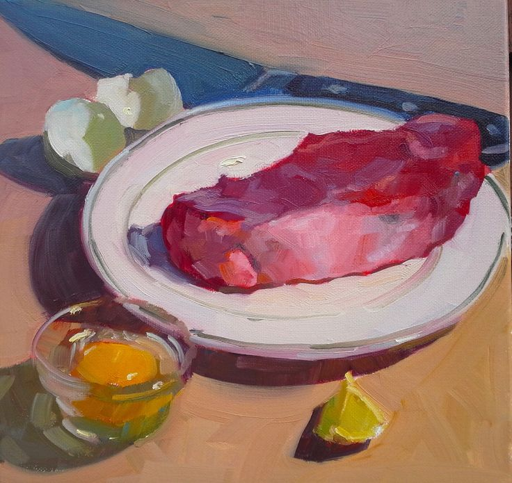 Ribeye on the Prize oil on canvas