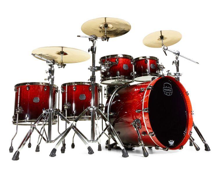 Mapex Saturn V Sound Wave Twin 5-Piece Drum Kit in Cherry Mist - Drum Shop UK