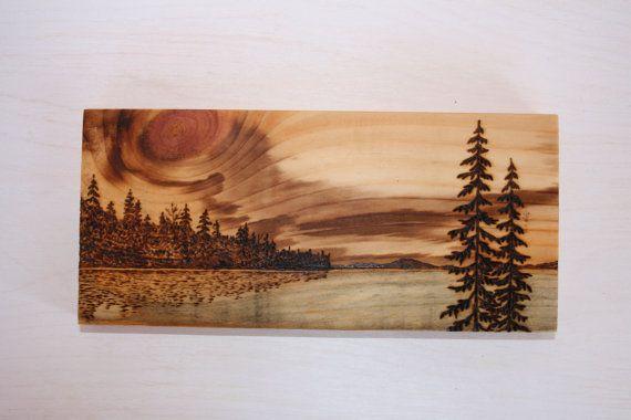 Sunset - Art Block - Wood burning