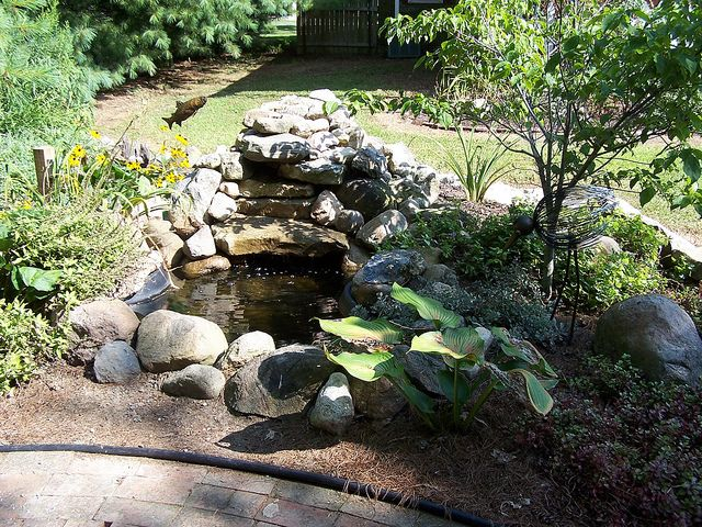 133 best images about diy pond building on pinterest for Ornamental fish pond construction