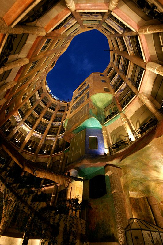 Atrium - Casa Milà also know as La Pedrera by Gaudi #architecture #modernism #pedrera #casamila #gaudi #architect #barcelona #atrium