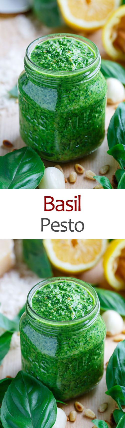 ~~Basil Pesto with Toasted Pine Nuts | A fresh, light and summery homemade basil pesto! One of the great things about basil pesto is that it freezes well so you can save the essence of summer for later. | Closet Cooking~~