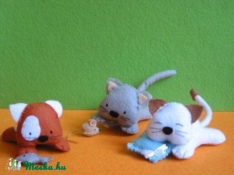 Cuki cicusok (3 édi filc cica kiegészítőkkel) (Jam81) - Meska.hu