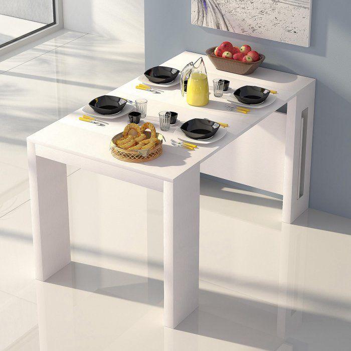 Casabianca Erika Wood Grain Extendable Console Dining Table